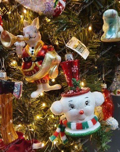 Retro postavičky na vianočný stromček