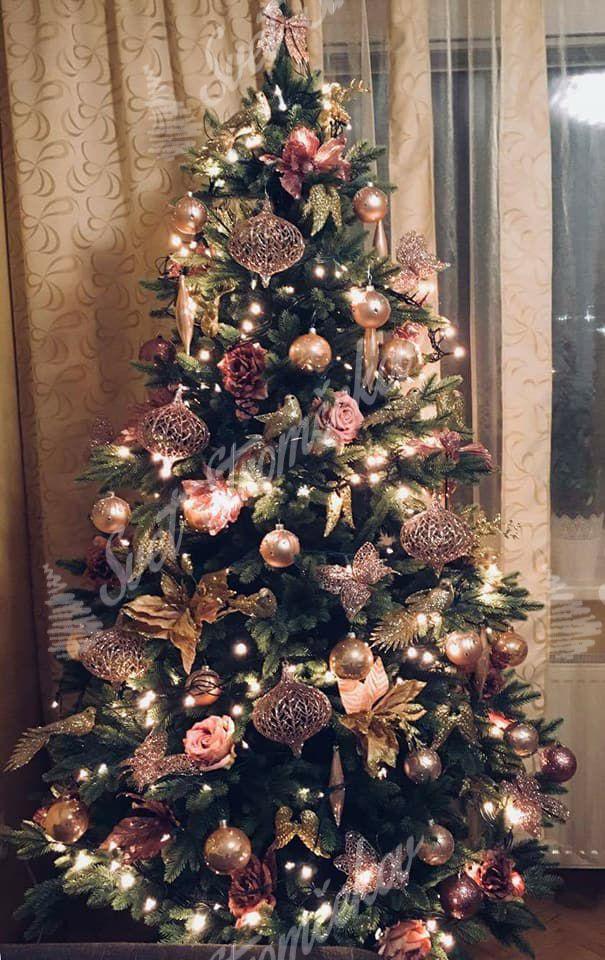 Ozdobený umelý vianočný stromček 3D Jedľa Kanadská 180cm