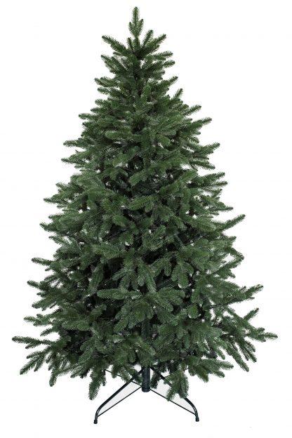 Umelý vianočný stromček v prevedení jedľa kanadská s realistickým 3D ihličím a tmavo-zelenými končekmi vetvičiek