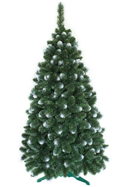 zasnežený vianočný stromček
