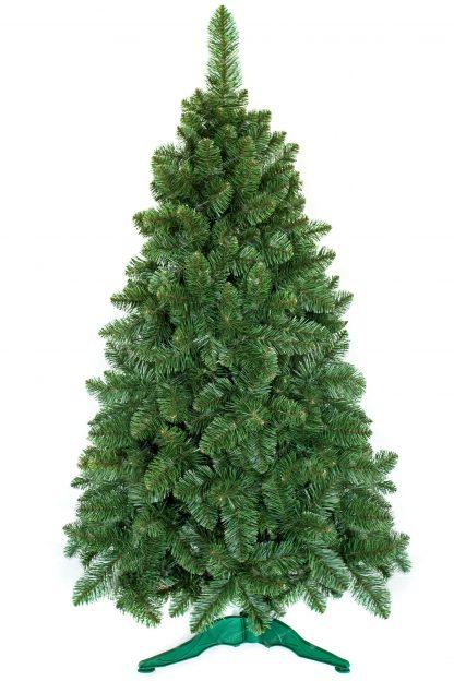 Umelý vianočný stromček v prevedení jedľa, bledozelenej farby s realistickým prírodným vzhľadom