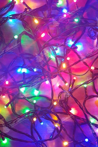 Vianočné LED osvetlenie s rôznofarebnými LED svetielkami