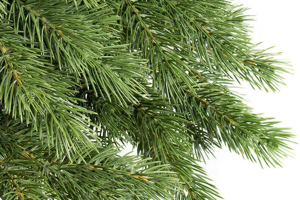 Umelý vianočný 3D stromček Borovica Himalájska na pníku detail 3