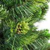 Detailná fotka vetvičiek borovice Kvitnúcej . V strede o´brázku sa nachádza pozlatená borovicová šiška.