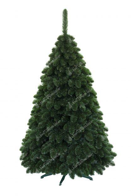 Krásny umelý vianočný stromček Borovica Sibírska obsahuje veľký počet vetvičiek a tak pôsobí veľmi hustým dojmom. Vetvičky majú prirodzenú zelenú farbu a smerujú smerom nadol ako pravá Borovica Sibírska. Stromček je postavený na umelom stojane .