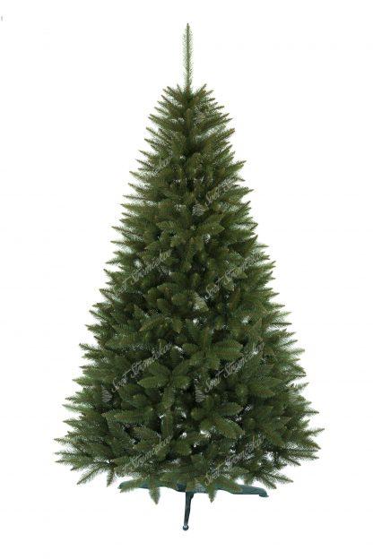 Vianočný stromček pekného , uhladeného ihlanového tvaru. Stromček má veľký počet úzkych vetvičiek vďaka čomu je naozaj hustý . Stromček je postavený na umelom stojane .