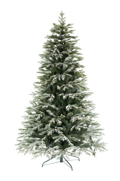 Klasický zelený 3D stromček , ktorý má koncové vetvičky pokryté umelým snehom . Sneh je veľmi autentický a je na nerozoznanie od toho pravého. Celý stromček pôsobí živým dojmom. Stromček je postavený na kovovom stojane.