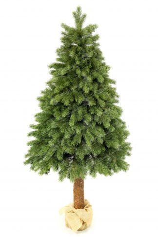 Umelý vianočný stromček tvorený 100% z 3d ihličia. Stromček je hustý a jeho ihličie je na nerorzznanie od pravej borovice. Celý stromček je postavený na drevennom pníku s betonovým podstavcom.