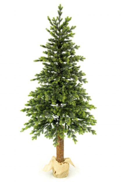 Vianočný stromček je postavený na pníku. StromČek ma pekný ihlanový tvar tvorený zo 100% 3D ihličia . Končeky ma bledozelenej farby zatiaˇi co začiatky vetvičiek sú tmavo zelenej farby.