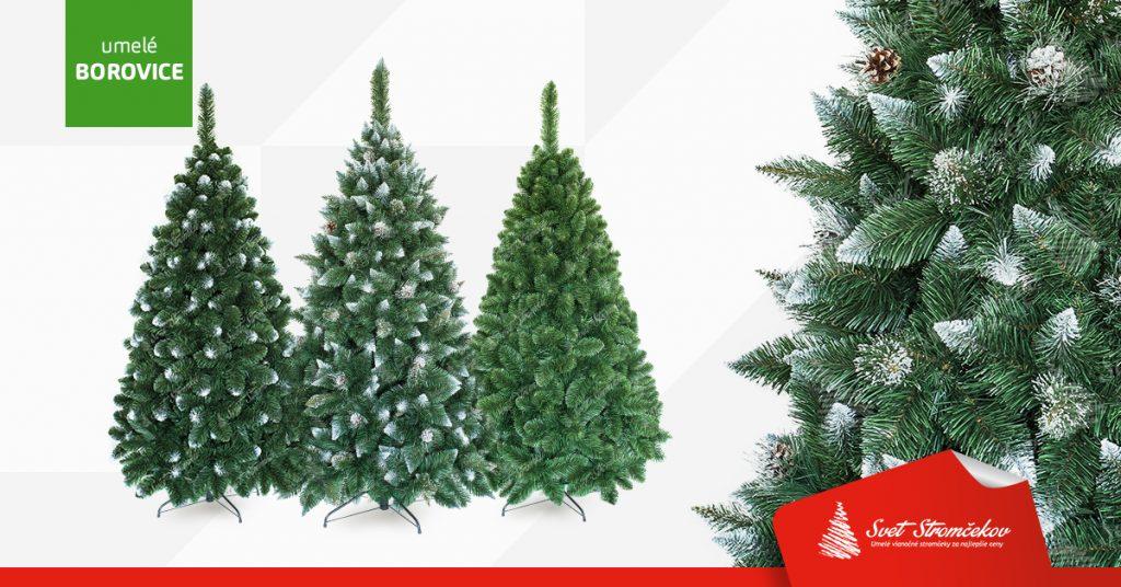 Umele vianočné stromčeky borovice