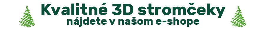Kvalitné 3D Stromčeky nájdete v našom e-shope