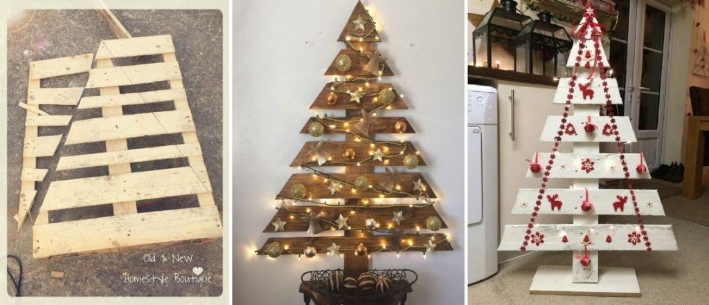 Vianočný stromček z paliet