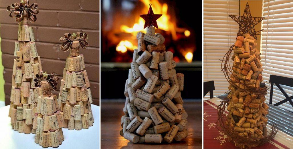 Vianočný stromček z korkových zátiek