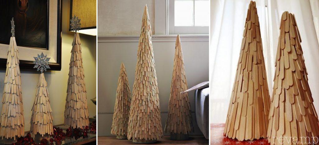 Vianočný stromček z nanukových paličiek