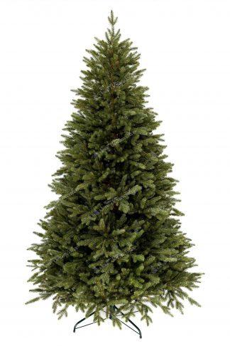 FULL 3D vianočný stromček tmavo zelenej farby. Stromček ma smrekové 3D ihličie a stojí na kovovom stojane.