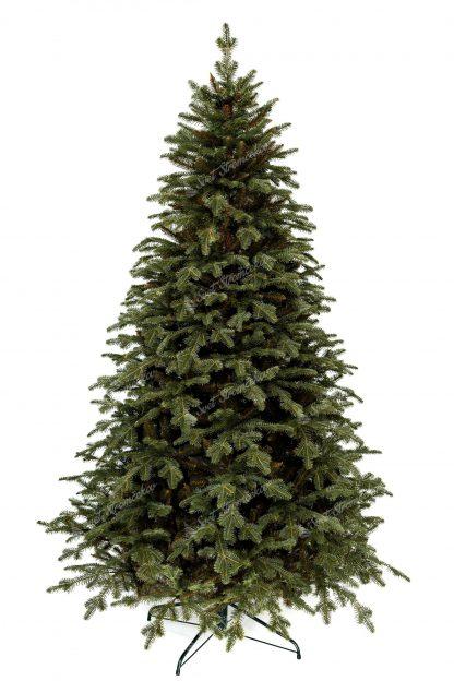 3D vianočný stromček. Stromček ma dokonalé realistické vetvičky a vyzerá ako živý. Celý stromček stojí na kovovom stojane.