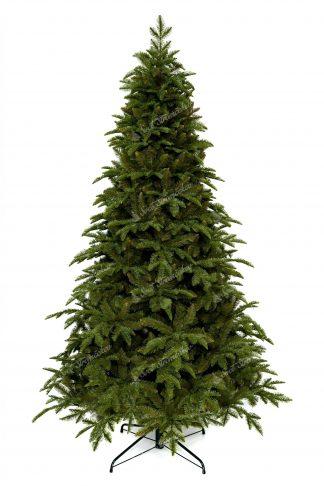 Umelý vianočný stromček 3D Jedľa Kaukazská. Stromček je bledo zelenej farby a cely je postavený na kovovom stojane.