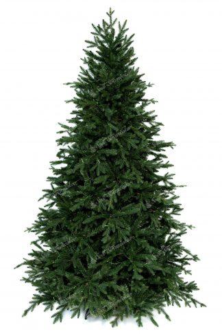 3D vianočný stromček tmavozelenej farby.
