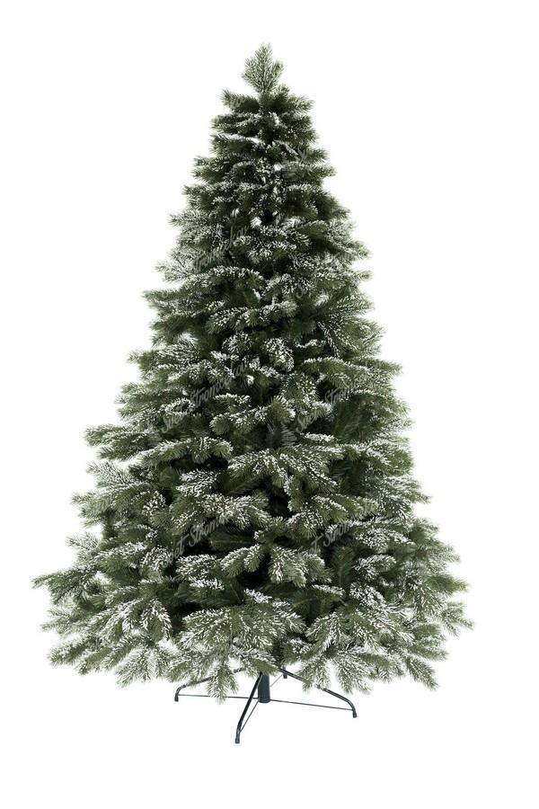 Zasnežený vianočný stromček 3D borovica