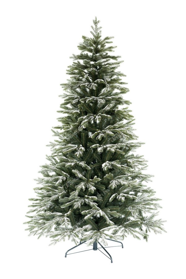 Jemne zasnežený 3D vianočný stromček Smrek