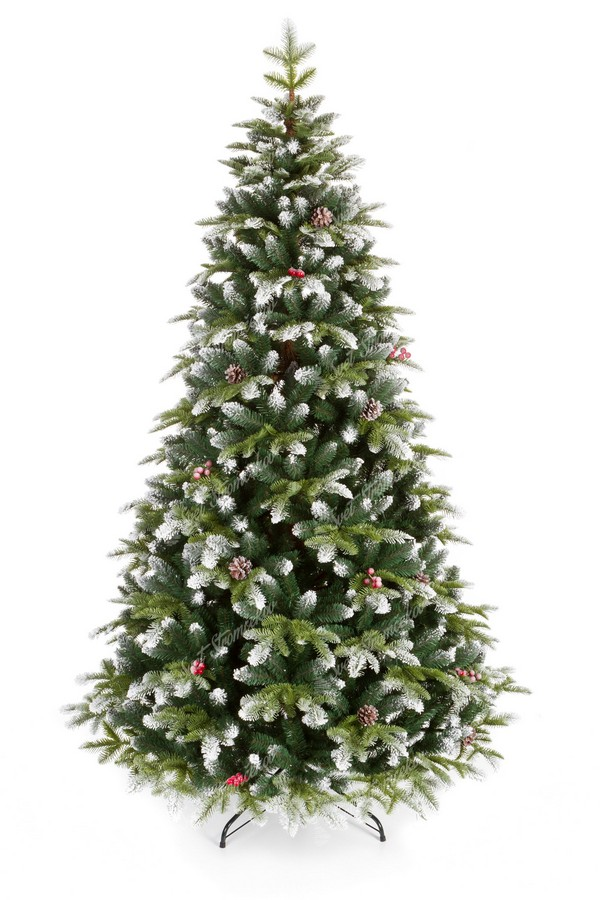 Zasnežený vianočný stromček 3D Jedľa Zasnežená