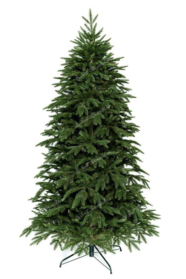 Moderný vianočný stromček s prepracovaným kmeňom stromčeka