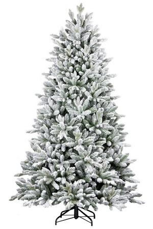 Luxusný biely vianočný stromček s LED osvetlením