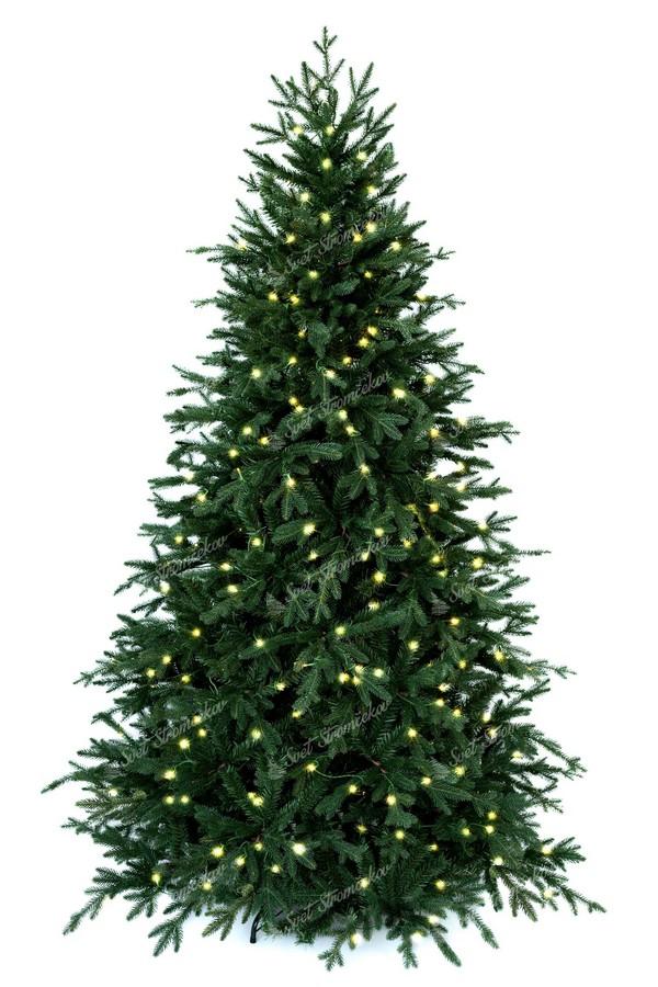 Luxusný vianočný stromček so zabudovaným 3D ihličím