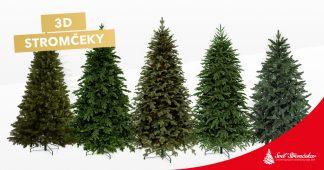3D vianočné stromčeky