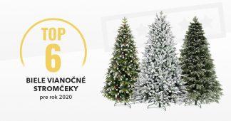 Biele vianočné stromčeky - TOP6 pre rok 2020