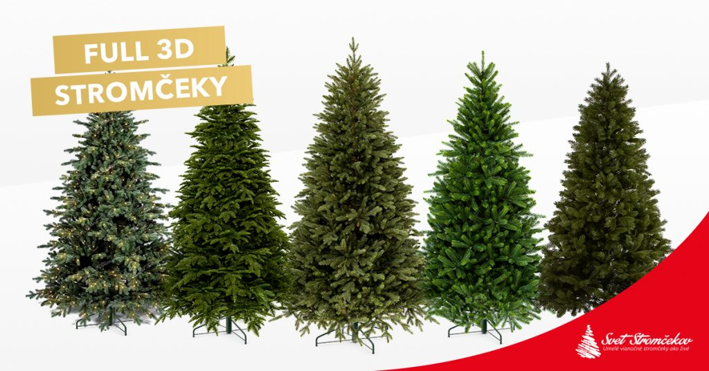 Luxusné FULL 3D vianočné stromčeky