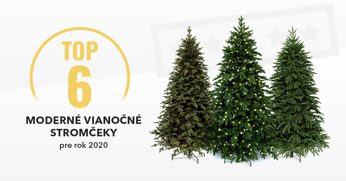 Moderné vianočné stromčeky - TOP6 pre rok 2020