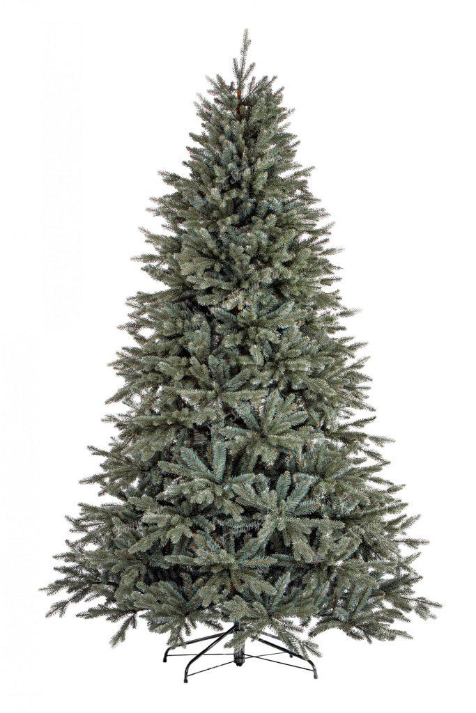 Moderný vianočný stromček 3D Smrek Ľadový tyrkysovo zelenej farby