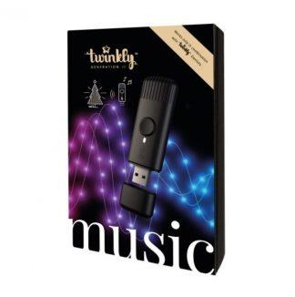 Hudobný senzor Twinkly Music, ktorý zabezpečí blikanie svetielok v rytme pustenej hudby.