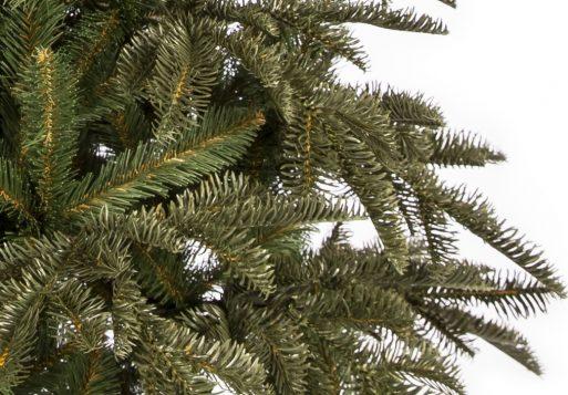 Umelý vianočný stromček 3D jedľa normandská detail ihličia
