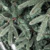 Umelý vianočný stromček 3D Jedľa Striebristá. Vianočný stromček tyrkysovo striebornej farby. Detail ihličia.