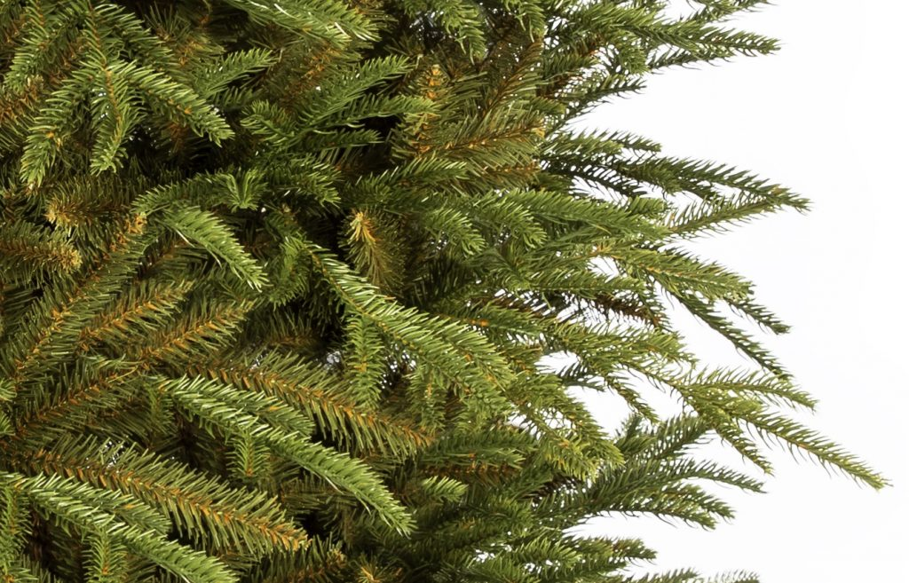 Umelý vianočný stromček 3D Smrek Dánsky, detail ihličia