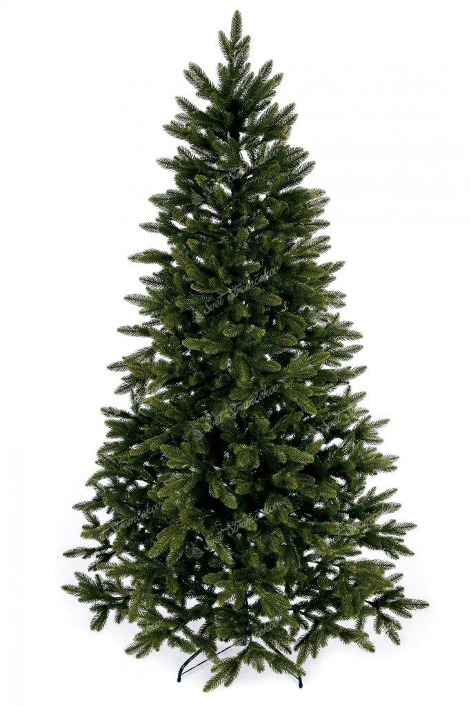 Umelý vianočný stromček FULL 3D Jedľa Kanadská. Vianočný stromček tmavo zelenej farby.