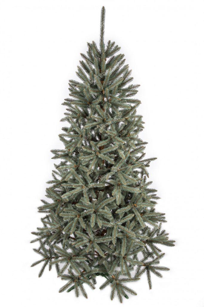 Umelý vianočný stromček Smrek Strieborný. Tyrkysovo strieborný vianočný stromček.