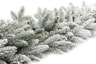 Vianočný girlanda 3D Smrek Kráľovský. Zasnežená girlanda bielej farby.