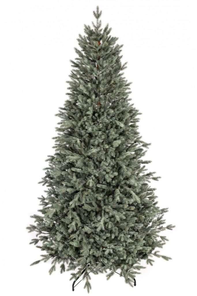 Vianočný stromček FULL 3D Smrek Ľadový. Umelý stromček v tyrkysovo striebornej farbe.