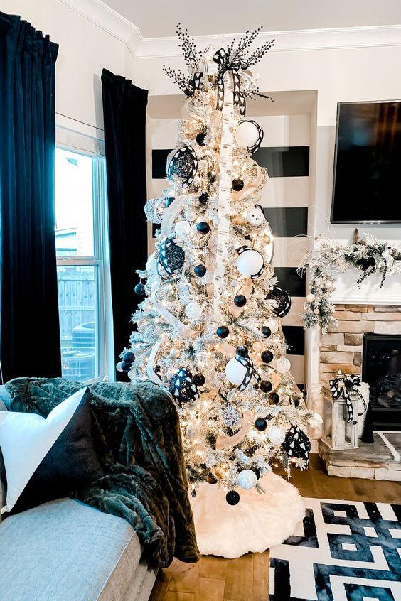 Čierne vianočné ozdoby