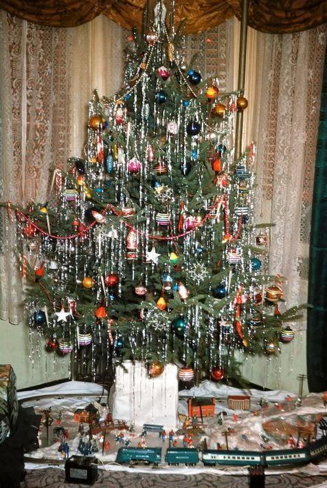 Retro vianočný stromček