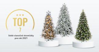 Biele vianočné stromčeky- TOP 7 pre rok 2021
