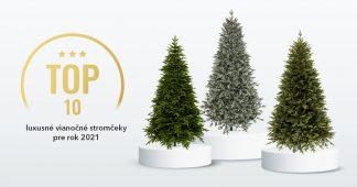 Luxusné umelé vianočné stromčeky